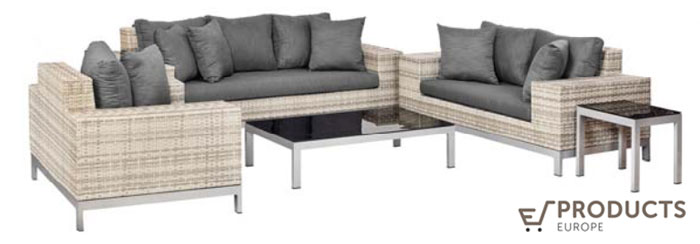 <BIG><B>Wicker loungeset Nashville</B></BIG>