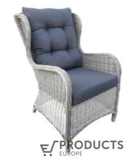 <BIG><B>Wicker stoel Delafield antraciet</B></BIG>