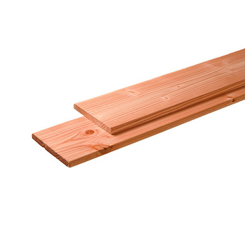 <BIG><B>Douglas plank 1 zijde geschaafd, 1 zijde fijnbezaagd 2,8 x 19,5 x 400 cm, onbehandeld.</B></BIG>