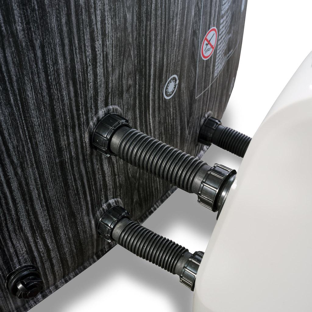 EXIT Wood Deluxe spa ø204x65cm - gris foncé