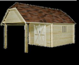 Cabane en bois Oxford XL | 355x650 cm