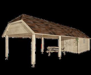 Cabane en bois Oxford XXL | 355x940 cm