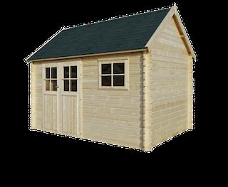 Gloucester Cabane en bois L | 385x295 cm