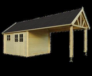 Cabane en bois Gloucester L | 760x295 cm