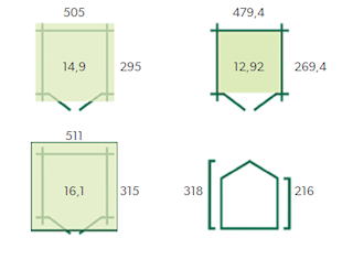 Gloucester Cabane en bois XL | 505x295 cm