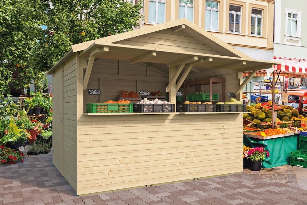 <BIG><B>Kiosque No&euml;l avec bardeaux de toit droits</B></BIG>