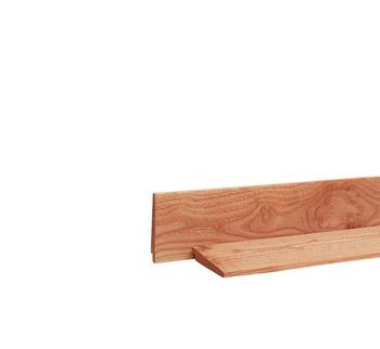 <BIG><B>Douglas zweeds rabat 1 zijde geschaafd, 1 zijde fijnbezaagd 1,0-2,1 x 16,5 x 500 cm, onbehandeld.</B></BIG>