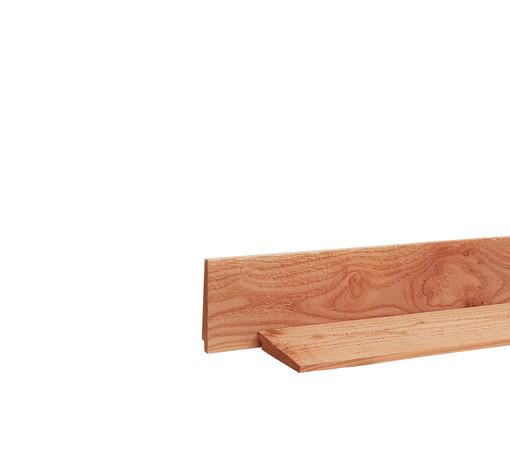 <BIG><B>Douglas zweeds rabat 1 zijde geschaafd, 1 zijde fijnbezaagd 1,1-2,7 x 19,5 x 400 cm, onbehandeld.</B></BIG>