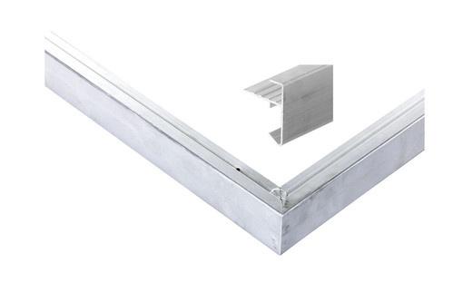 <BIG> <B> Garniture de toit en aluminium droit pour une taille maximale de toit 1250 x 600 cm </B> </BIG>