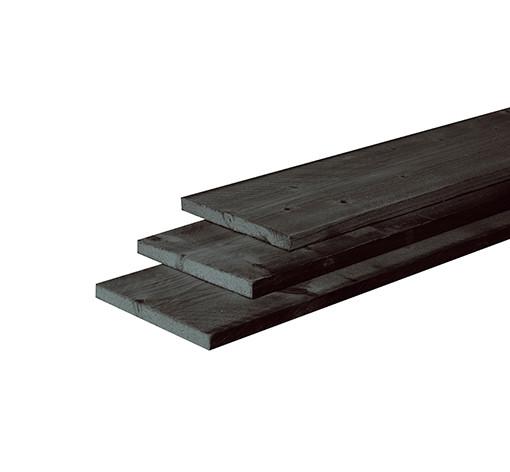 <BIG><B>Douglas plank fijnbezaagd 2,5 x 25 x 400 cm, zwart gedompeld</B></BIG>
