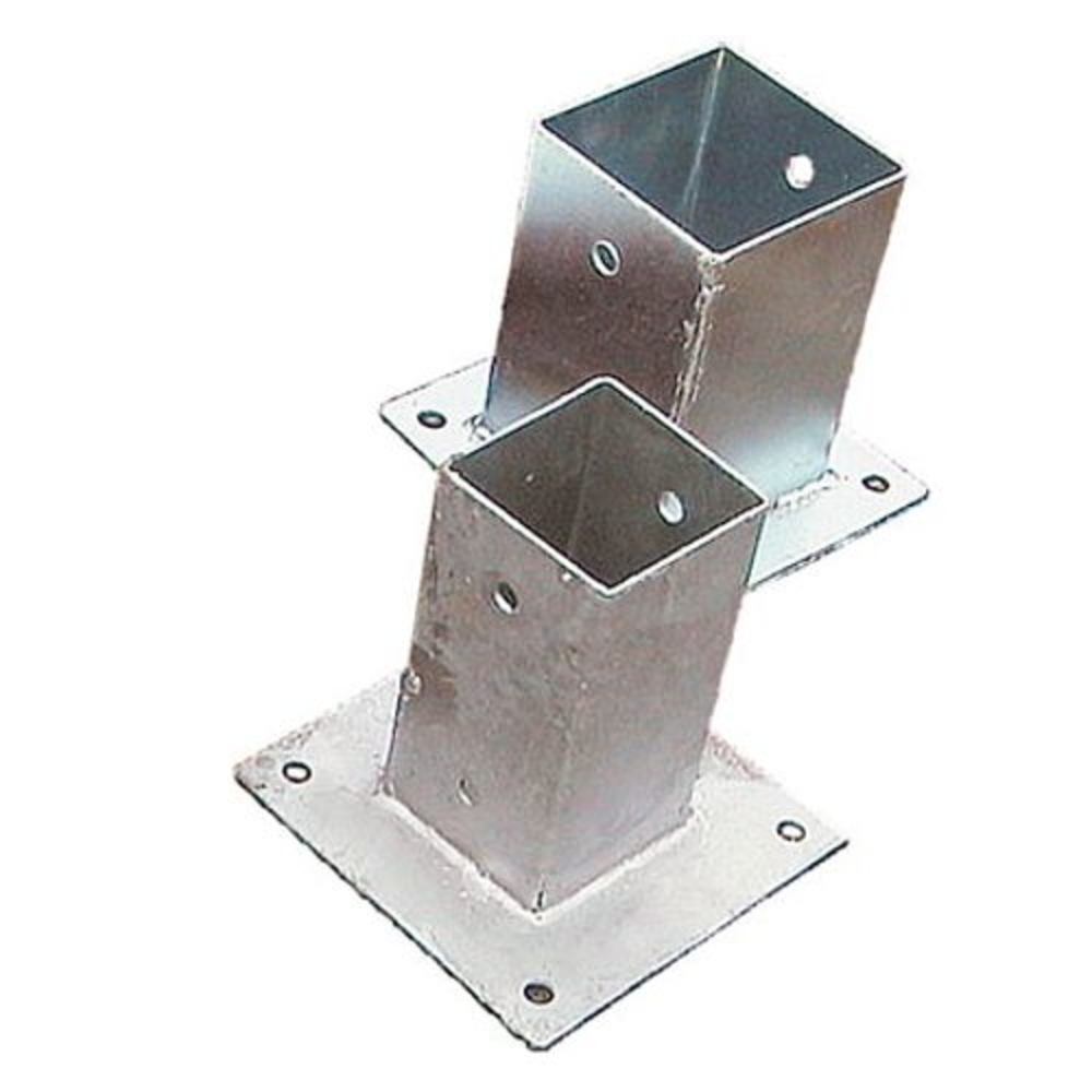 <BIG><B>Carport Single / Attachment Post holder on plate</B></BIG>