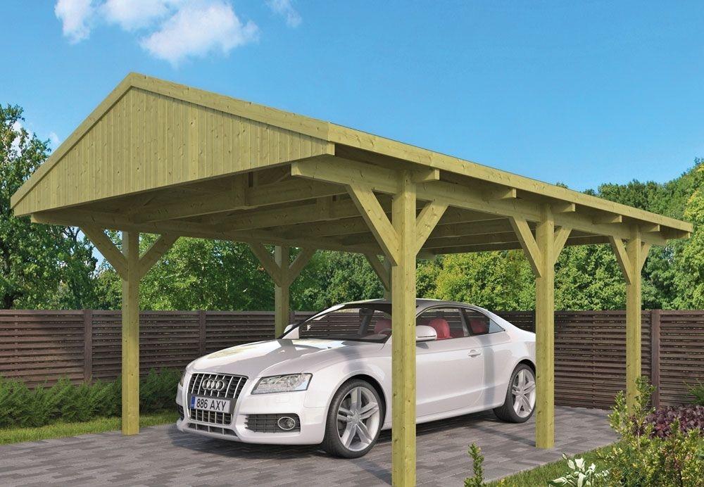 <BIG><B>Carport Toit &agrave; pignon avec bardeaux de toit droits</B></BIG>