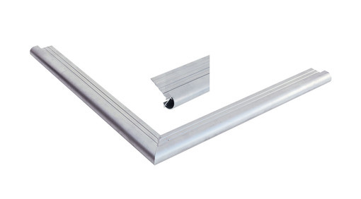 <BIG><B>Daktrim aluminium met ronde kraal t.b.v. maximale dakmaat 1500 x 600 cm</B></BIG>
