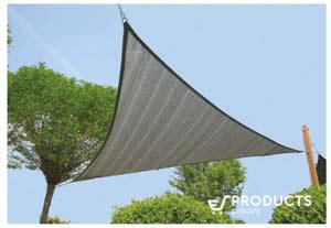 <BIG><B>Zonnezeil 3-hoek 4.2x4.2m zilvergrijs</B></BIG>