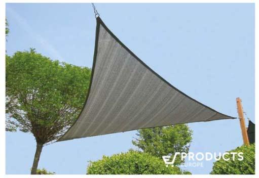 <BIG><B>Zonnezeil 3-hoek 5.5x5.5m zilvergrijs</B></BIG>