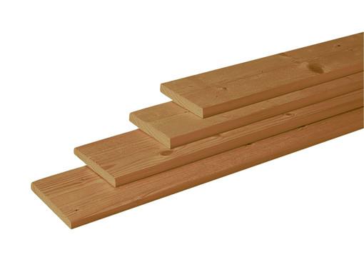 <BIG><B>Douglas geschaafde plank 1,6 x 14 x 180 cm, groen ge&iuml;mpregneerd.</B></BIG>