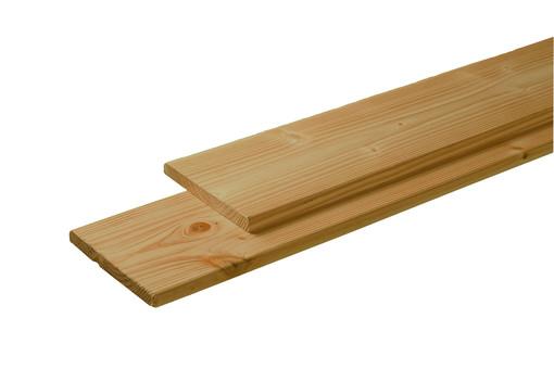 <BIG><B>Douglas plank 1 zijde geschaafd, 1 zijde fijnbezaagd 2,8 x 19,5 x 400 cm, groen ge&iuml;mpregneerd.</B></BIG>