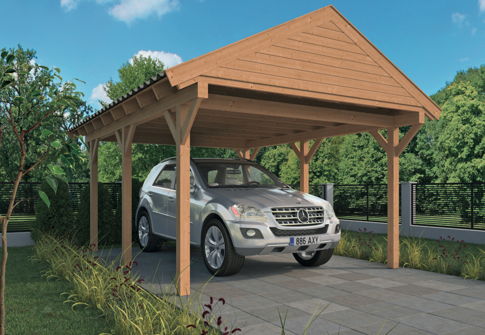 <BIG><B>DIY Carport Workum y compris les bardeaux de toit queue de castor</B></BIG>