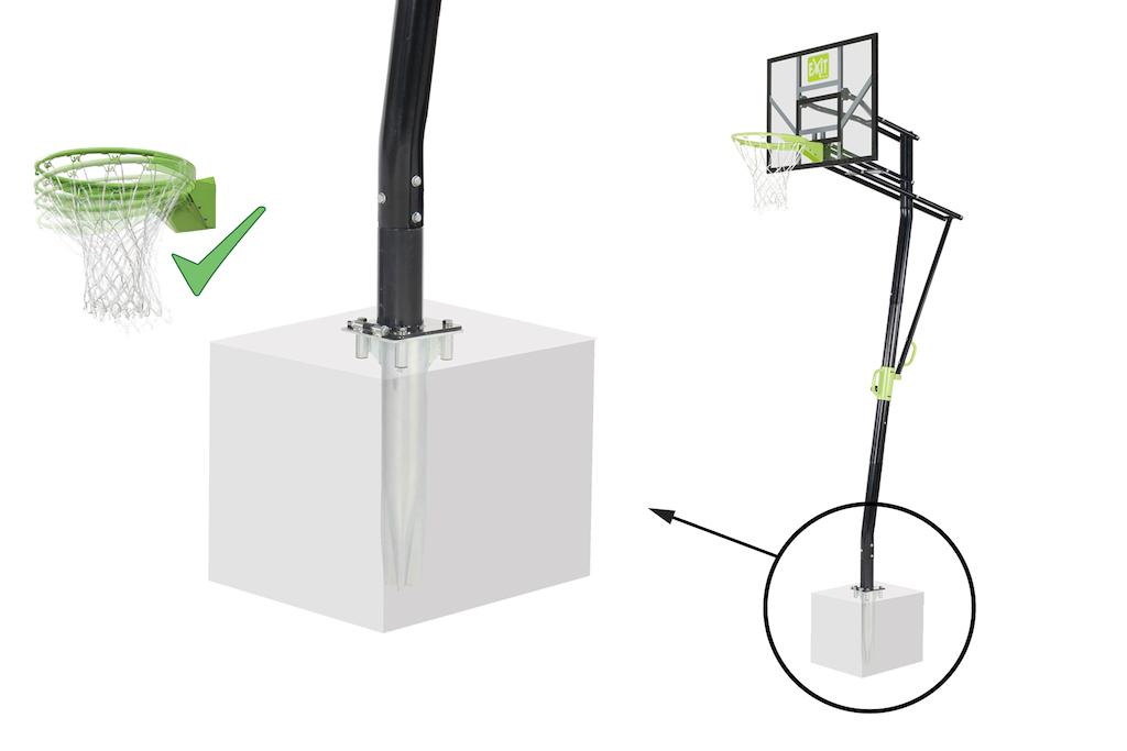 EXIT Galaxy Inground Basket (met Dunkring)