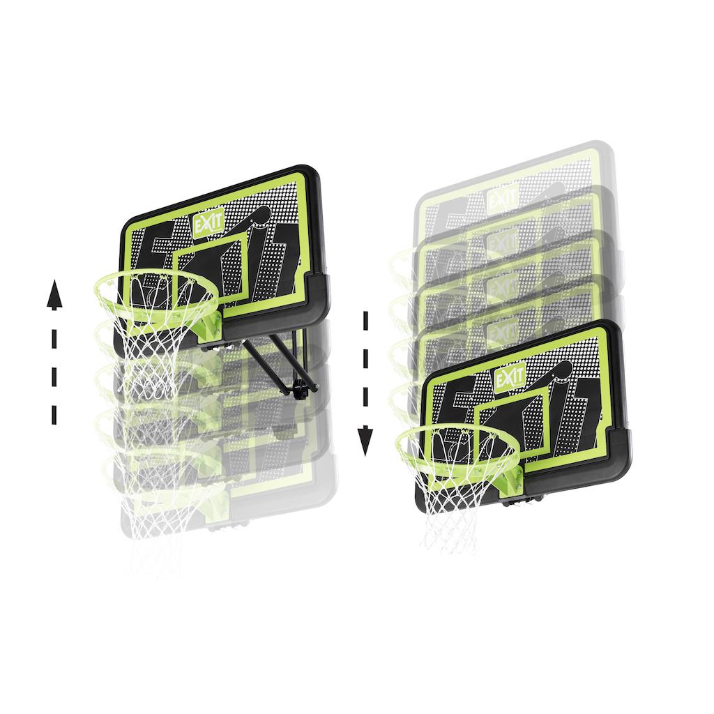EXIT Galaxy basketbalbord voor muurmontage - black edition