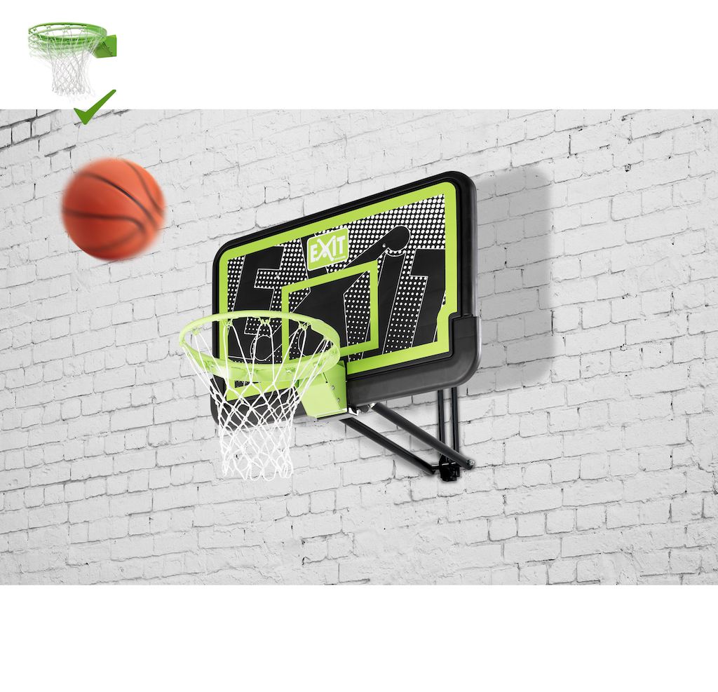 Panneau de basket mural EXIT Galaxy avec anneau dunk - édition noire