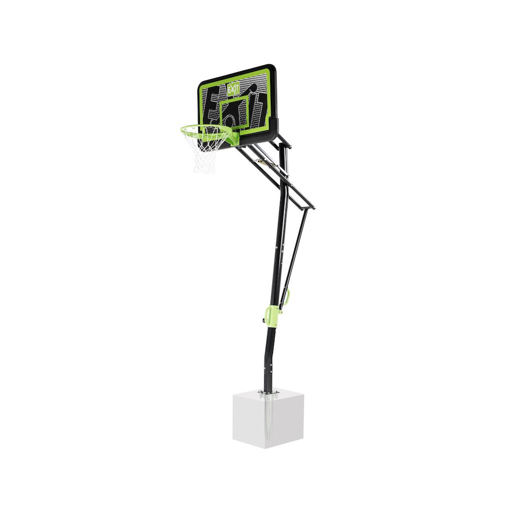 Panneau de basketball EXIT Galaxy pour montage au sol - édition noire