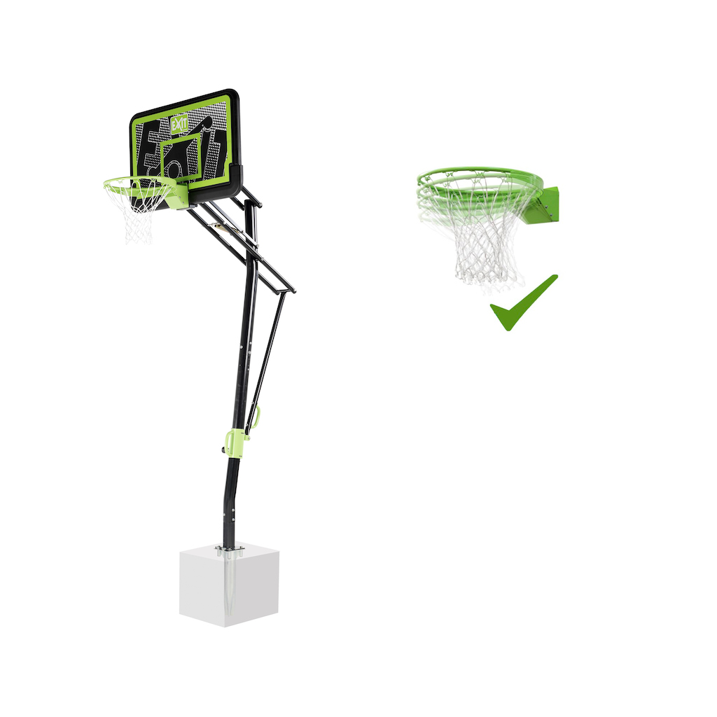 EXIT Galaxy basketbalbord voor grondmontage met dunkring - black edition