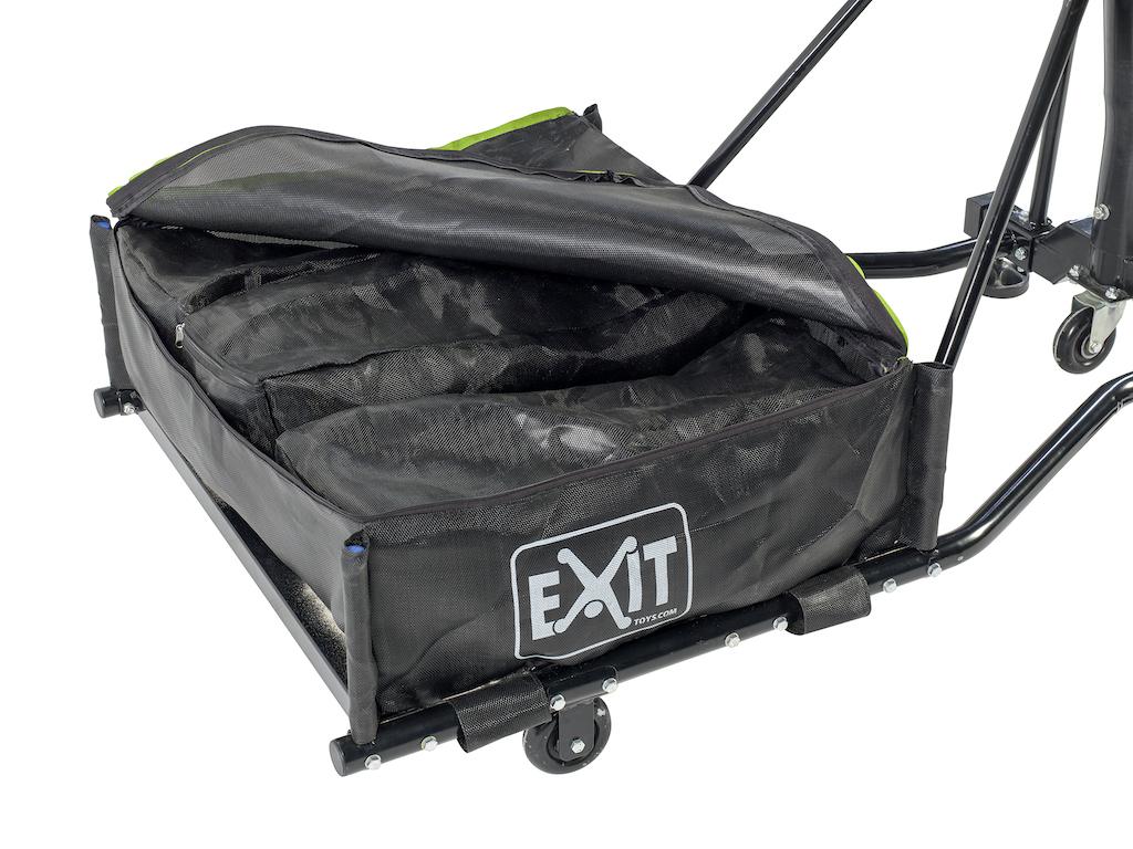 EXIT Galaxy verplaatsbaar basketbalbord op wielen  - black edition
