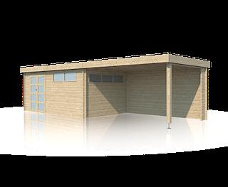 Cabane en bois | moderne | 505 x 295 | Extension 400 cm