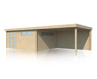 Blokhut | Modern | 505 x 385 | Extensie 400 cm