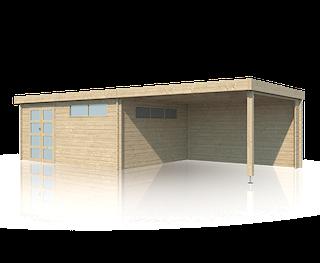 Cabane en bois | moderne | 505 x 385 | Extension 400 cm