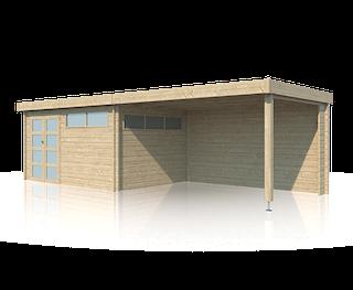 Cabane en bois | moderne | 415 x 295 | Extension 400 cm