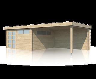 Cabane en bois | moderne | 415 x 385 | Extension 400 cm