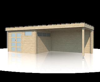 Cabane en bois | moderne | 355 x 295 | Extension 400 cm