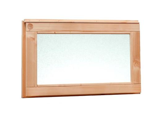 <BIG> <B> Fenêtre Douglas fenêtre fixe avec verre de lait 72 x 40 cm, imprégnée de vert. </B> </BIG>