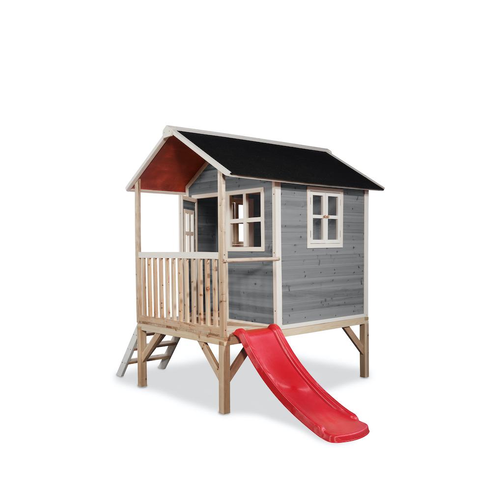 EXIT Loft 300 houten speelhuis - grijs