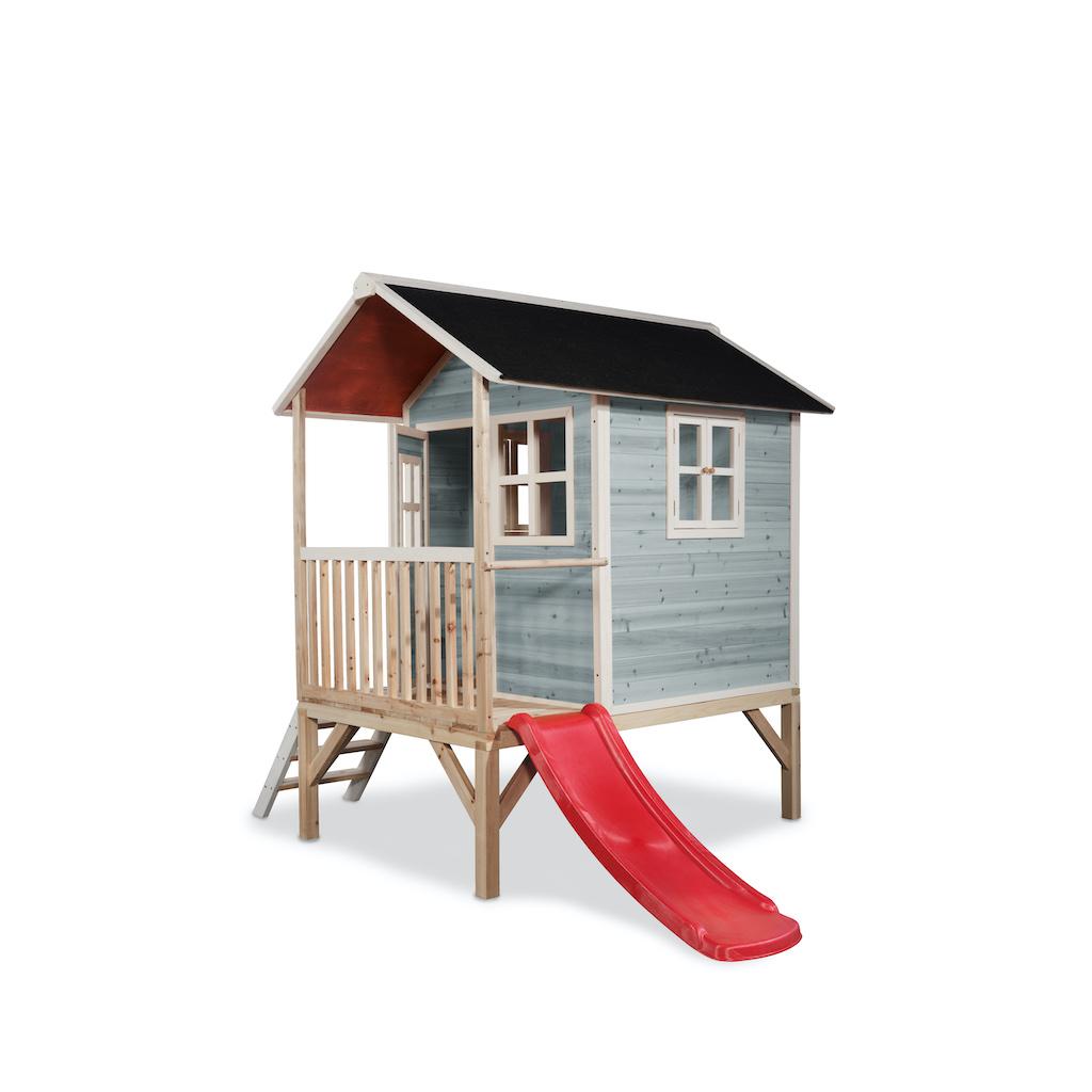 EXIT Loft 300 houten speelhuis - blauw
