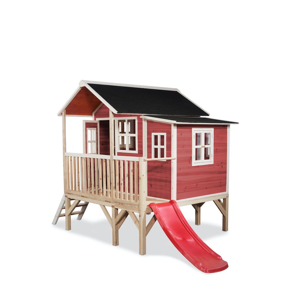 Maisonnette en bois EXIT Loft 350 - rouge
