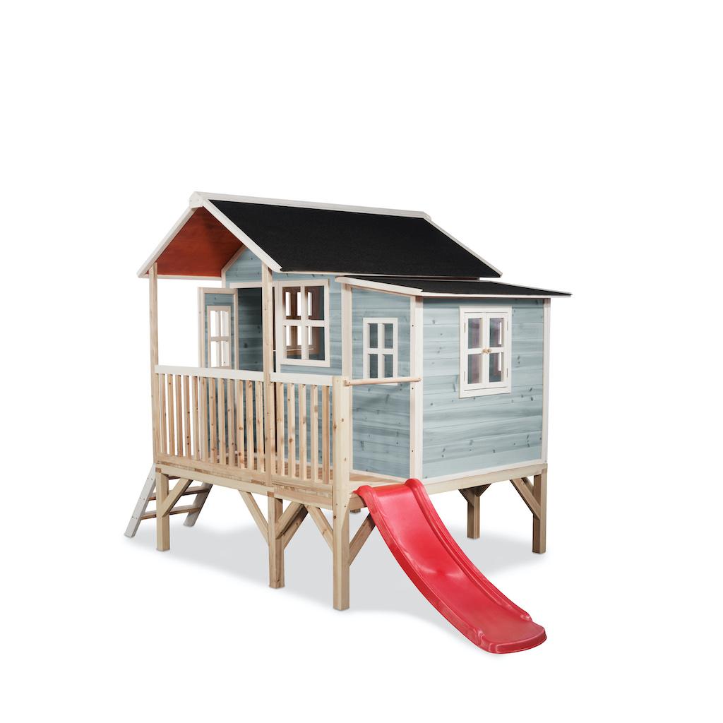 EXIT Loft 350 houten speelhuis - blauw