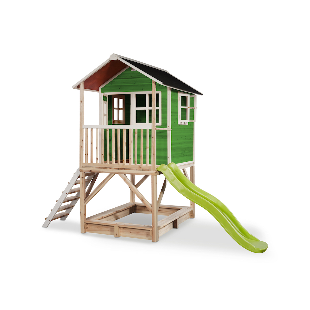 Maisonnette en bois EXIT Loft 500 - verte