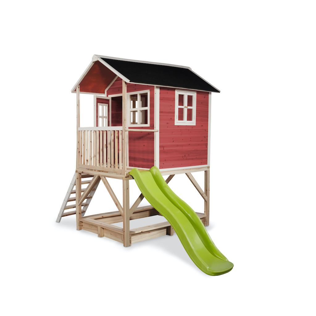EXIT Loft 500 houten speelhuis - rood