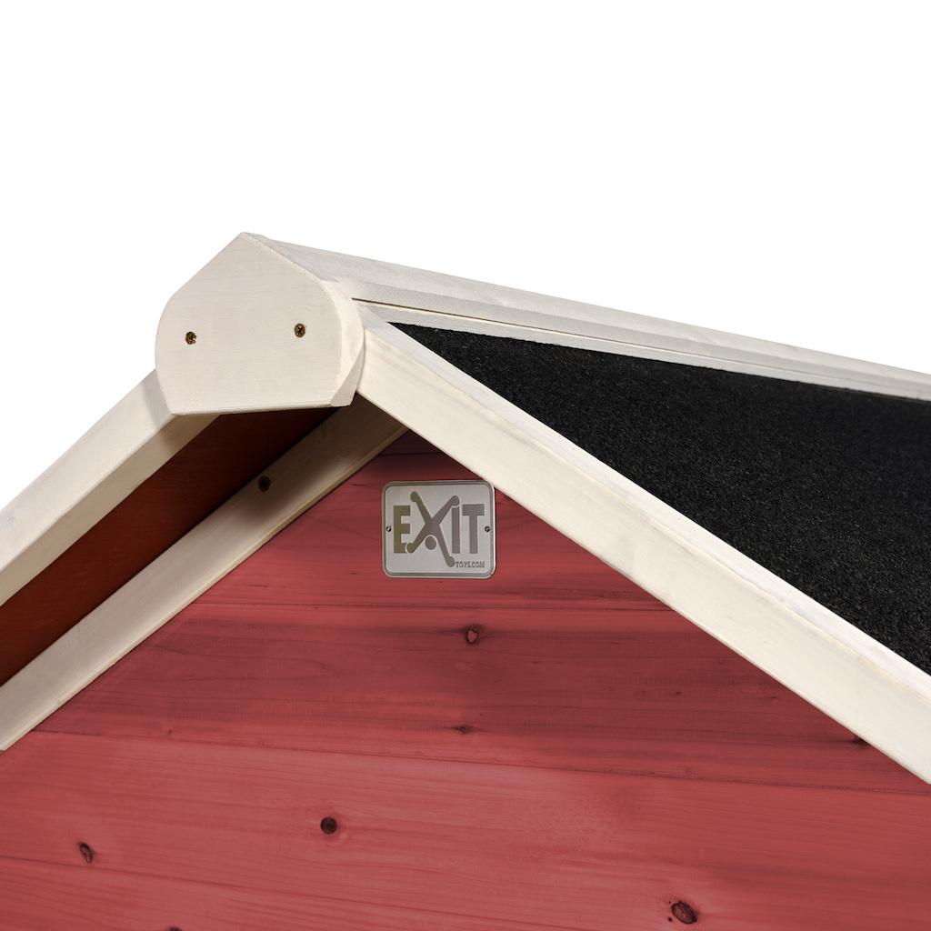 Maisonnette en bois EXIT Loft 500 - rouge