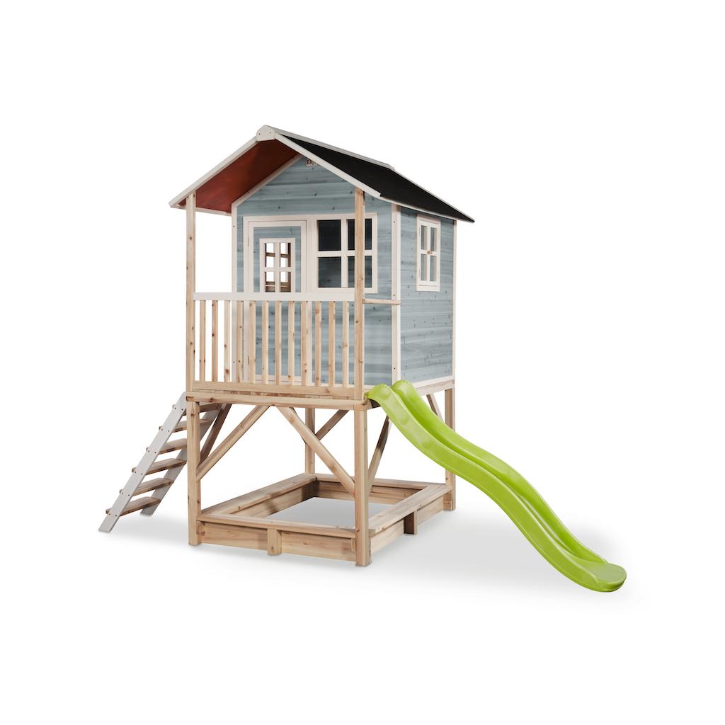 EXIT Loft 500 houten speelhuis - blauw