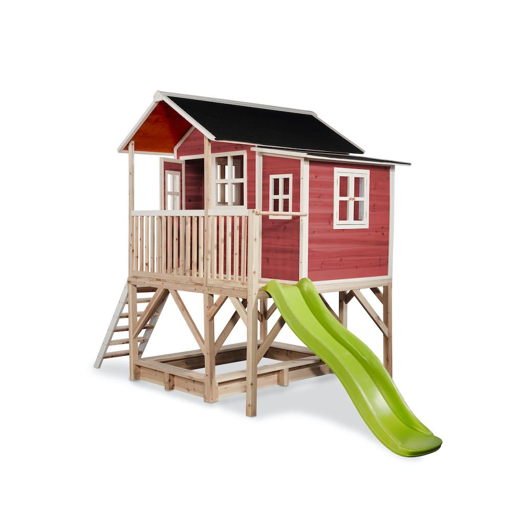EXIT Loft 550 houten speelhuis - rood