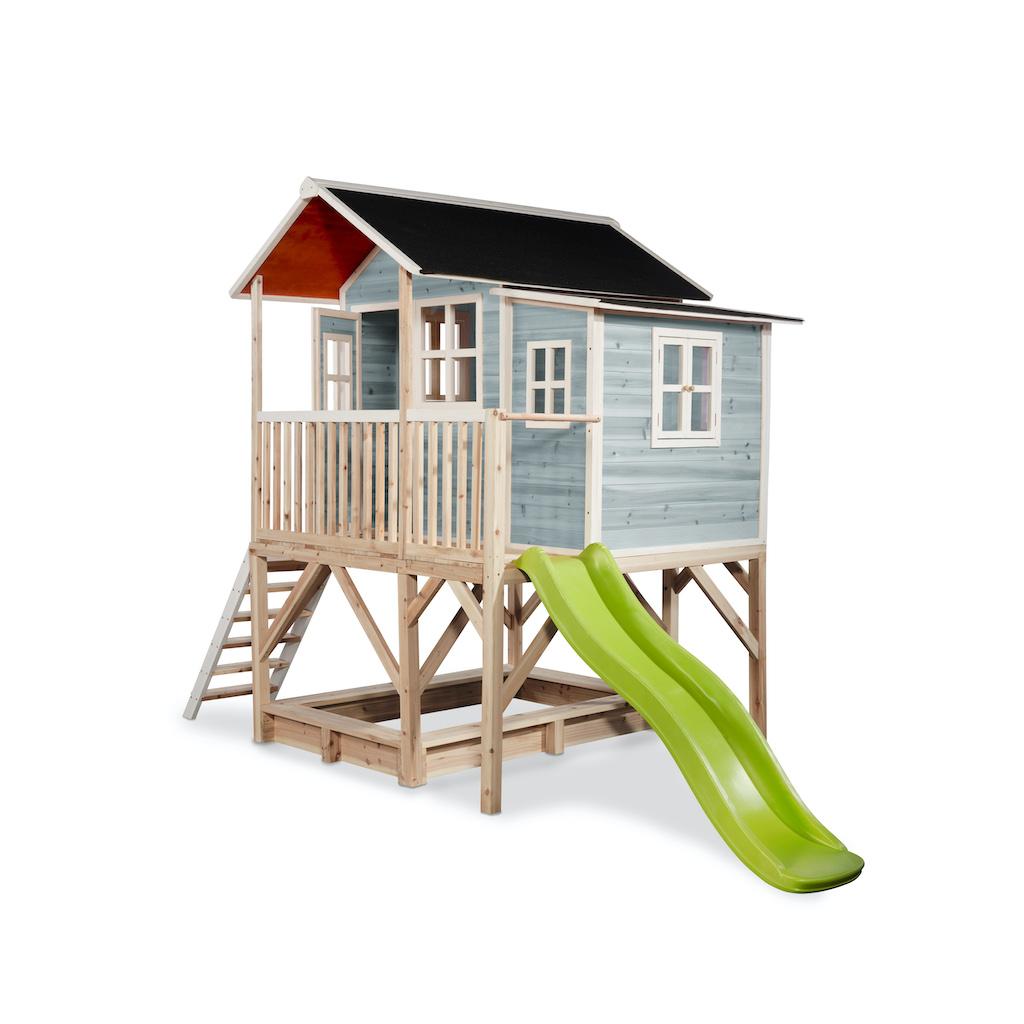 EXIT Loft 550 houten speelhuis - blauw