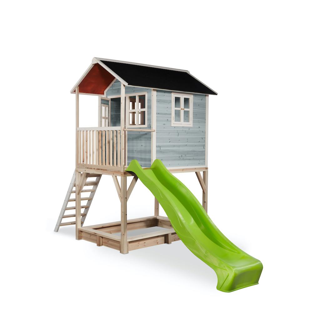 EXIT Loft 700 houten speelhuis - blauw