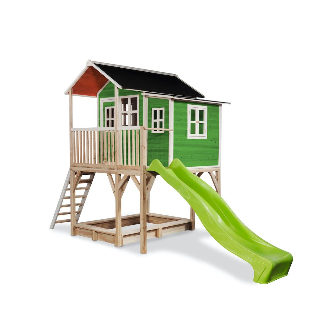 EXIT Loft 750 houten speelhuis - groen