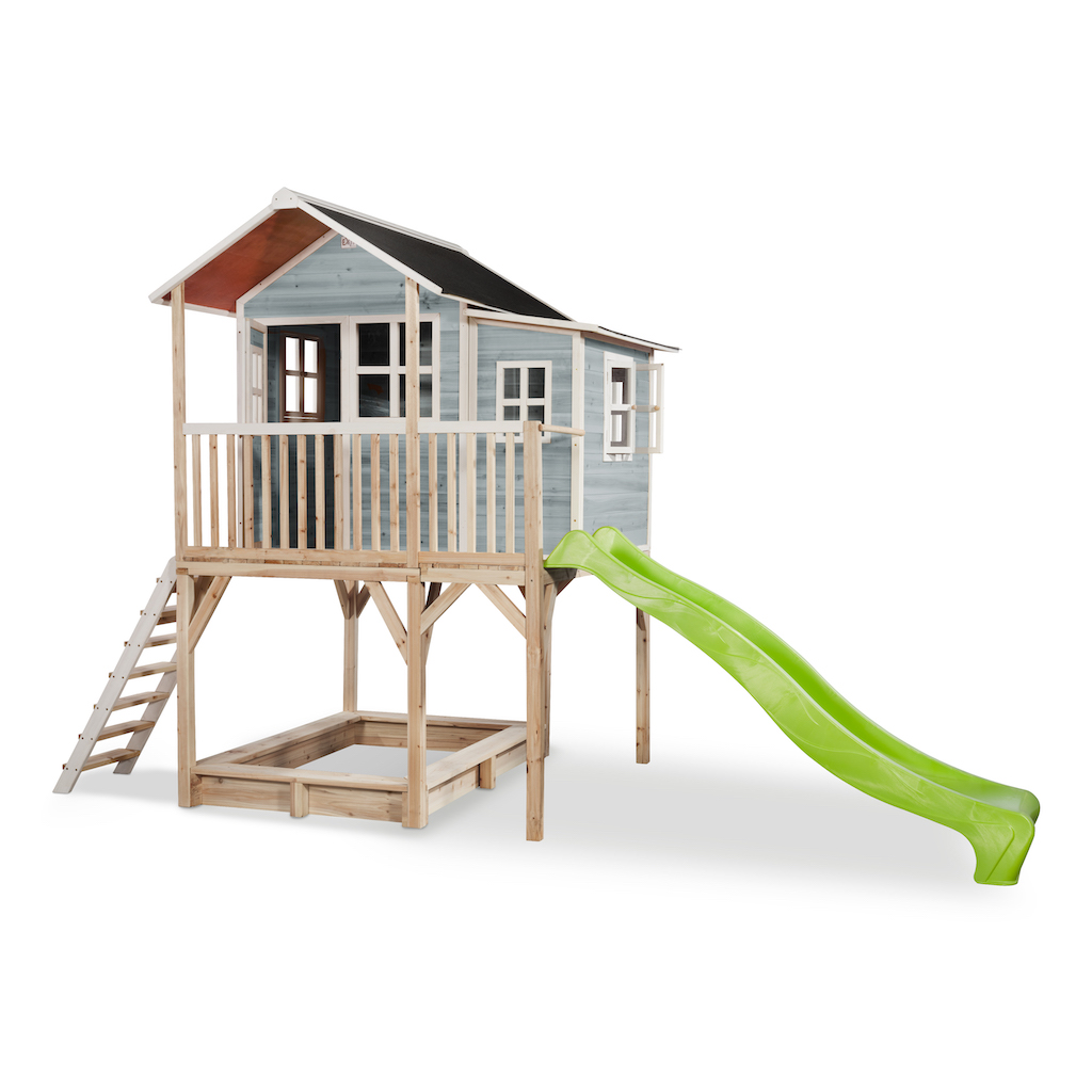 EXIT Loft 750 houten speelhuis - blauw