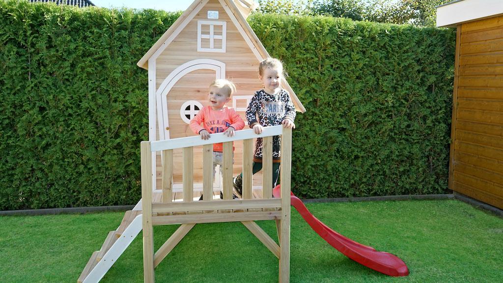 EXIT Fantasia 300 houten speelhuis - naturel