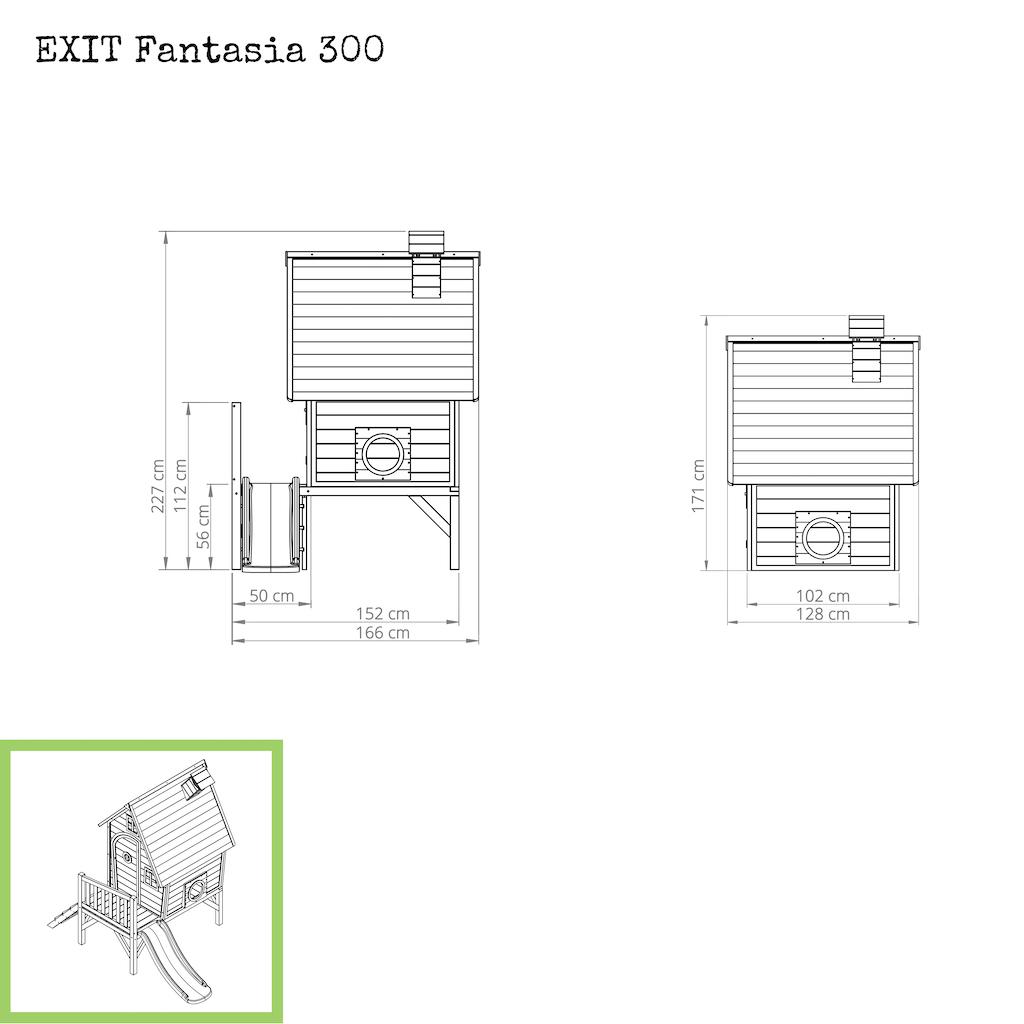 EXIT Fantasia 300 houten speelhuis - rood